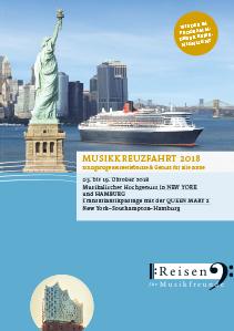 Katalog Musikkreuzfahrt 2018 Queen Mary 2