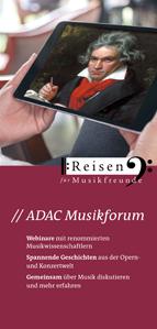 Aktueller Flyer ADAC Musikforum Online-Seminare