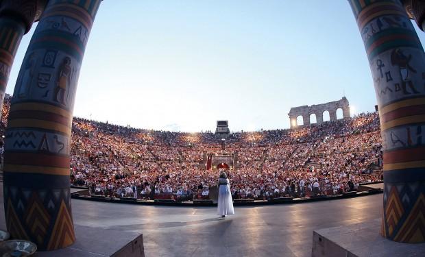 """Aufführung der Oper """"Aida"""" an den Opernfestspielen in der Arena di Verona"""