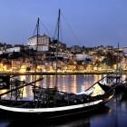 Abendansicht vom Hafen in Porto