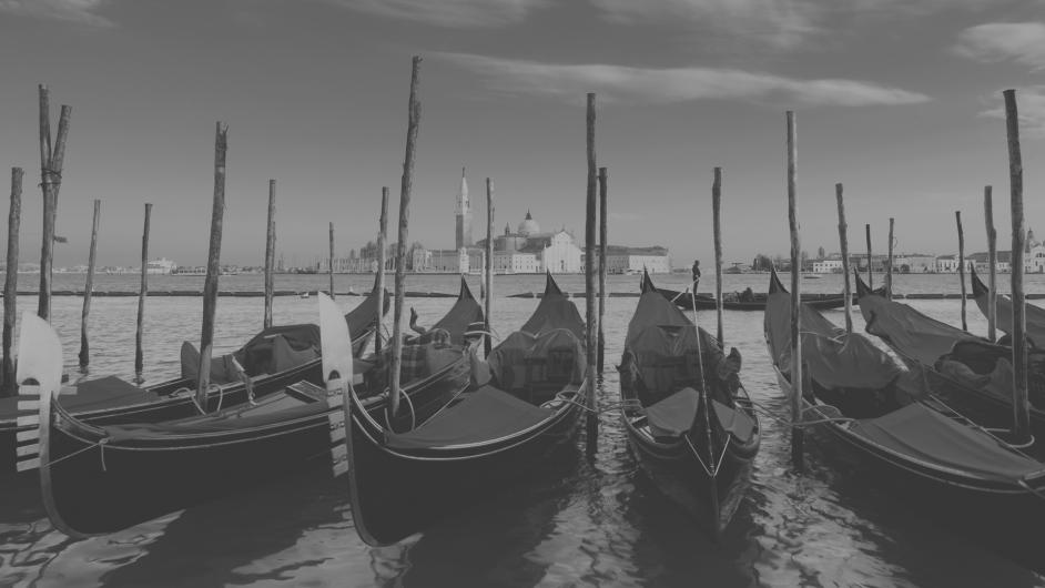 Boote vor Venedig